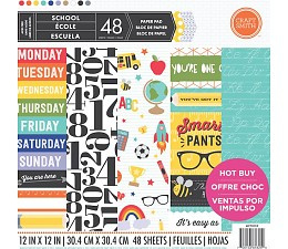 School 12x12 Paper Pad 48 sheets Craft Smith