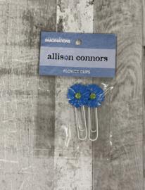 Allison Conners Flower Clips Blue - Creative Imaginations