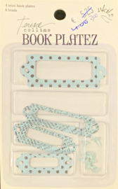 Book Platez Shabby Chic Blue by Teresa Collins - Junkitz