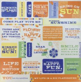 Cardstock Stickers Fresh Print Mango - Deja Views