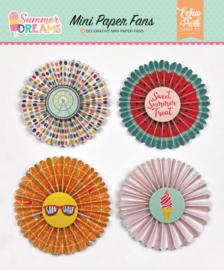 Summer Dreams Mini Paper Fans Echo Park