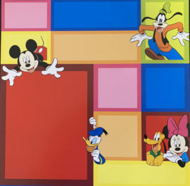 Color Block Mickey embossed 12x12 - EK Succes