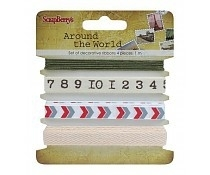 Around the world Set of 4 decorative ribbons (1m) ScrapBerry's