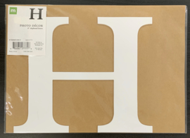 "H Chipboard Letter 8"" - Making Memories"