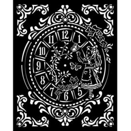 Alice Clock Stencil - Stamperia
