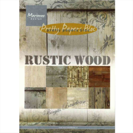 Rustic Wood Pretty A5 Papers Bloc Marianne Design