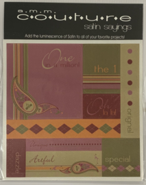 Couture Satin Sayings Artful -AMM