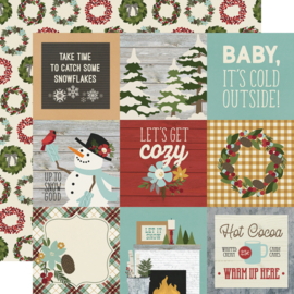 Winter Farmhouse 4x4 Elements - Simple Stories