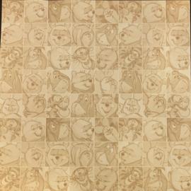 Tonal Squares Pooh 12x12 - Sandylion