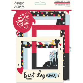 Say Cheese Main Street Chipboard Frames - Simple Stories