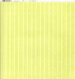 Green Stripe Delightful Collection - Little Yellow Bicycle