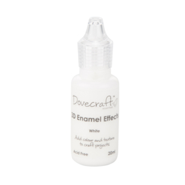 3D Enamel Effects White Dovecraft