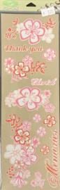 Pink Bouquet Rub-Ons - Sassafras