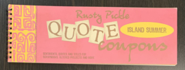Quote Coupons Island Summer - Rusty Pickle