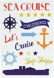 Let's Cruise Enamel Shapes - Carta Bella