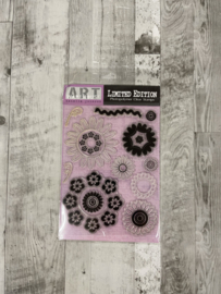 Warehouse Art Clear Stamps Flowers - Creative Imaginations