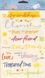 Wonderful Words Rub-Ons Color Splash Friends Deja Views
