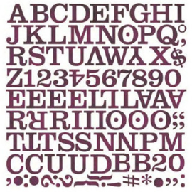 Middleset Mini Monogram Stickers - Eva Collection Basic Grey