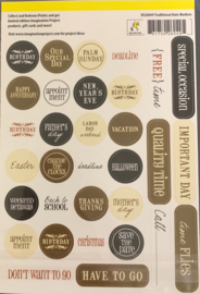 Cardstock Stickers - Traditional Date Markers - Project Essentials Collection