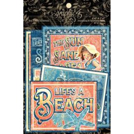 Sun Kissed Journaling Cards & Ephemera Cards Graphic 45