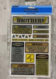 Scrapperware Epoxy Stickers Brother - Creative Imaginations