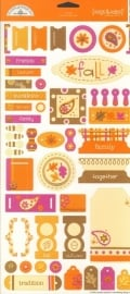 Fall Tags & Tabs Cardstock Stickers