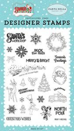 Santa's Workshop To All a Good Night Stamps - Carta Bella