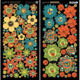 Cardstock Die-cuts Flowers Nature Sketchbook Collection - Graphic 45