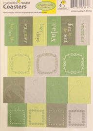 Coasters South Pacific Mini Tags - Chartreuse Dream Collection