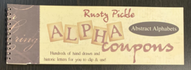 Alpha Coupons Abstract Alphabets - Rusty Pickle