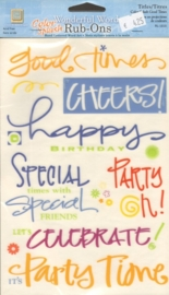 Wonderful Words Rub-Ons Color Splash Good Times Deja Views
