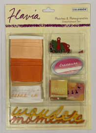 Flavia Peaches Embellishments - Colorbok
