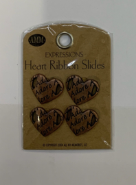 Adore Heart Ribbon Slide - AMM
