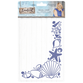 Seashell Corner Embossing Folder Nautical Collection - Crafter's Companion