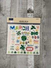 Calendar Rub-ons March - Karen Foster
