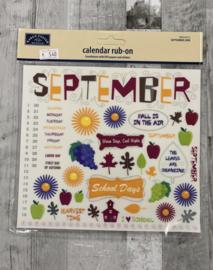 Calendar Rub-ons September - Karen Foster