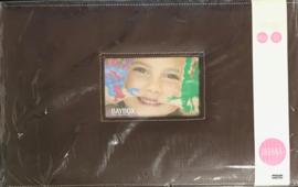 "BayBox  8"" x 12"" Brown leather"