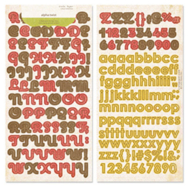 Alpha Twist Stickers Lillian Collection - Crate Paper