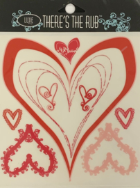 Hearts Frames Rub-Ons - Luxe Design