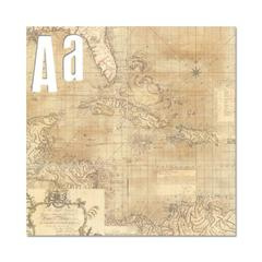 Foam Board Alphabet 12x12  World Traveler Collection - Heidi Swapp