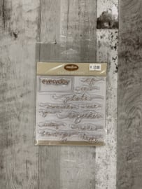 Creative Cafe Everyday Script Clear Stamps - Creative Imaginations