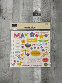 Calendar Rub-ons May - Karen Foster
