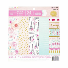 Ooh La La 6x6 Pape Pad 24 Sheets Craft Smith