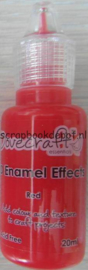 3D Enamel Effects Red Dovecraft