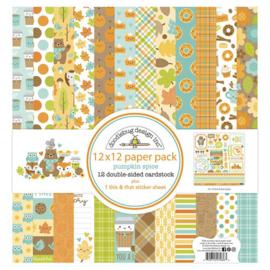 Pumpkin Spice 12x12 Paper Pack - Doodlebug