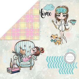 Stay at Home 1 12x12 - Craft & You Design