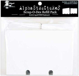 Scrap-O-Dex Refill Pack 12 Refill Sheets 8 Stand & 4 Tabbed - Zsiage