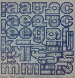 Bazzill Blue ABC - Creative Imaginations