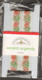 Accent Organdy Christmas Doodlebug Design