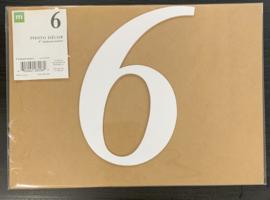 """6 Chipboard Numbers 8"""" - Making Memories"""